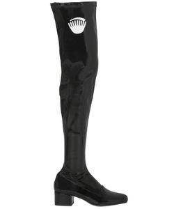 Chiara Ferragni | 40mm Eye Stretch Faux Patent Boots