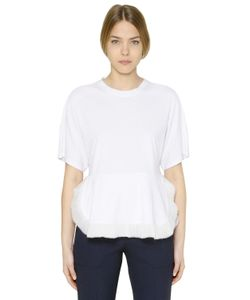 Chloe | Cotton Jersey Techno Chiffon T-Shirt