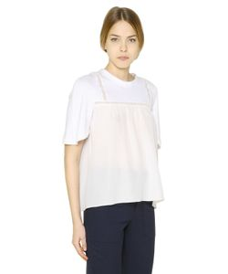 Chloe | Cotton Jersey Silk Crepe T-Shirt