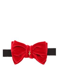 CHRISTIAN CORRENTI | Velvet Bow Tie With Charm