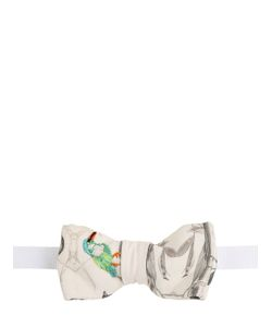 CHRISTIAN CORRENTI | Embroidered Printed Silk Bow Tie