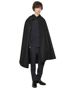 Christophe Lemaire | Hooded Melton Wool Cape