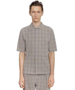 Christophe Lemaire | Cotton Seersucker Short Sleeve Shirt
