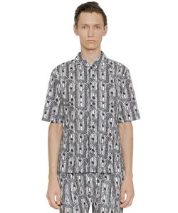 Christophe Lemaire | Printed Cotton Short Sleeve Shirt