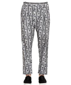 Christophe Lemaire | 17.5cm Printed Cotton Canvas Pants