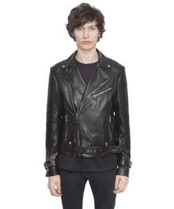 CHRISTOPHE TERZIAN | Perfecto Nappa Leather Biker Jacket