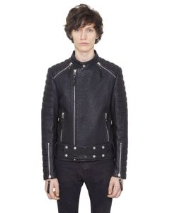 CHRISTOPHE TERZIAN | Natural Tumbled Leather Moto Jacket