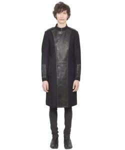 CHRISTOPHE TERZIAN | Wool Coat With Leather Panels