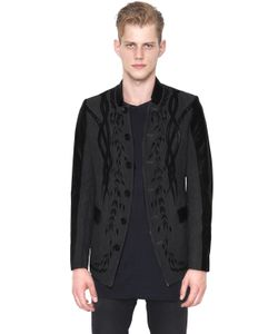 CHRISTOPHE TERZIAN | Embroidered Wool Leather Jacket