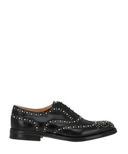 Church'S | 20mm Brogue Stud Brushed Leather Shoes