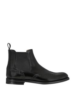 Church'S | 20mm Brogue Brushed Leather Ankle Boots