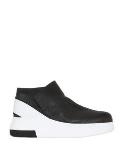 Cinzia Araia | Stretch Nappa Leather Mid Top Sneakers