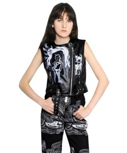 CLAIRE BARROW | Sleeveless Leather Moto Vest