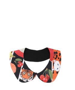 CLEO FERIN MERCURY | Animal Stickers Silk Twill Collar