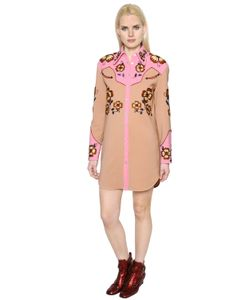 COACH 1941 | Western Crepe Dress W/ Floral Embroidery