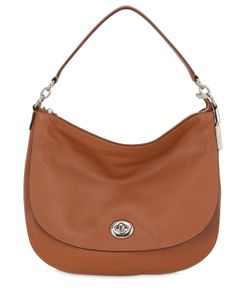 COACH NY | Turnlock Hobo Leather Shoulder Bag