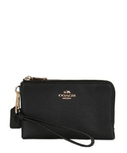 COACH NY | Corner Leather Zip Wallet