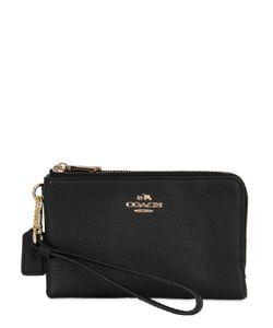 COACH NY | Corner Leather Zip Wallet
