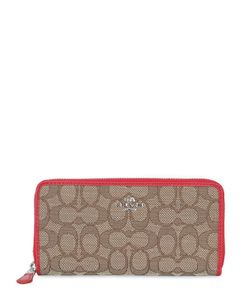 COACH NY | Zip Around Logo All Over Wallet