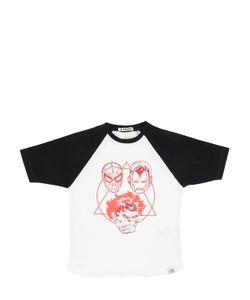 COURAGE&KIND   Marvel 3d Print Cotton Jersey T-Shirt