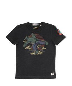 COURAGE&KIND   Hulk Printed Cotton Jersey T-Shirt
