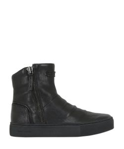 Crime | 30mm Leather Sneaker Boots