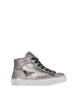Crime | Sequined Leather High Top Sneakers