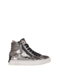 Crime | Sequined Leather Suede Sneakers