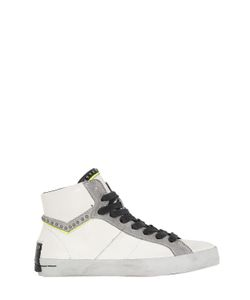 Crime | Studded Leather High Top Sneakers