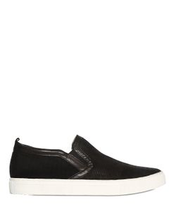 Crime | Snake Printed Leather Canvas Sneakers