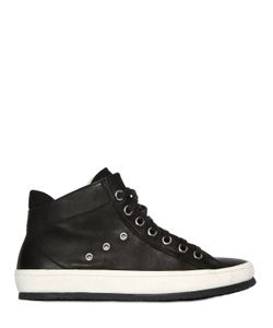 Crime | Zip-Up Leather High Top Sneakers