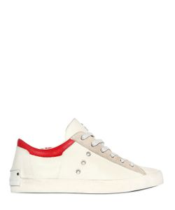 Crime | Contrast Detail Leather Suede Sneakers