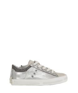 Crime | Metallic Leather Sneakers