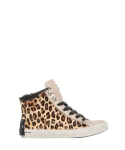 Crime | Leopard Print Ponyskin High Top Sneakers