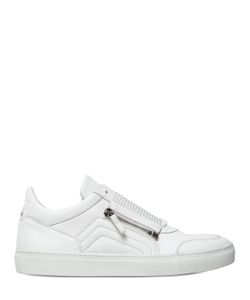 D-S!DE | Micro Studded Leather Slip-On Sneakers