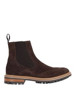 Dama | Brogue Suede Chelsea Boots
