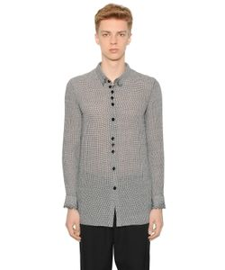 Damir Doma | Micro Houndstooth Wool Gauze Shirt