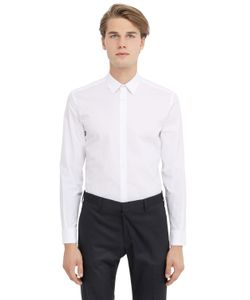 DANIELE ALESSANDRINI GREY | Stretch Cotton Poplin Shirt