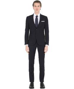 DANIELE ALESSANDRINI GREY | Techno Herringbone Suit