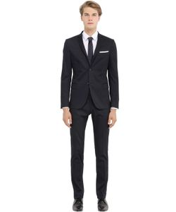 DANIELE ALESSANDRINI GREY | Stretch Cotton Satin Suit