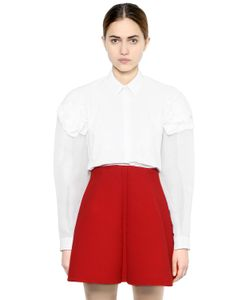 Delpozo | Organza Cotton Poplin Shirt