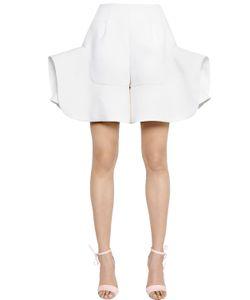 Delpozo | Ruffled Linen Blend Shorts