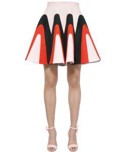 Delpozo | Linen Gabardine Godet Skirt