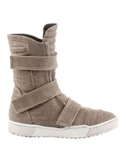DEMOBAZA | Cotton Canvas Velcro Sneaker Boots