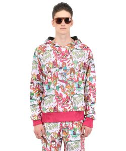 DER METROPOL | Hooded Cartoon Printed Techno Sweatshirt