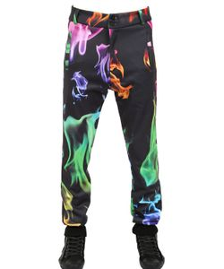 DER METROPOL | Fire Printed Techno Canvas Pants