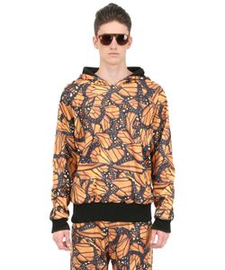 DER METROPOL | Hooded Butterfly Print Techno Sweatshirt