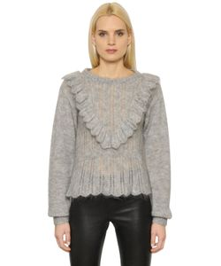 Designers Remix | Mohair Wool Sweater With Ruffles