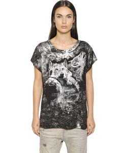 Diesel | Wolves Print Cotton Blend Jersey T-Shirt