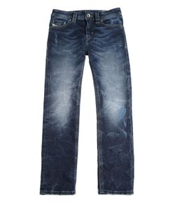Diesel Kids | Faded Stretch Cotton Blend Joggjeans